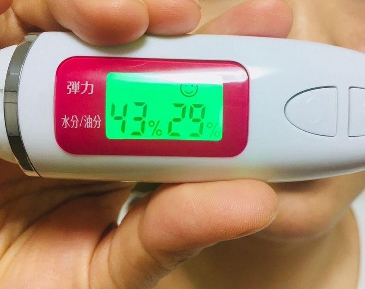 CREAL(クレアル)を使用後の肌の数値43-29