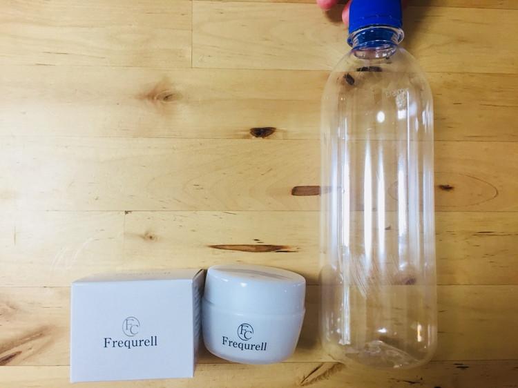 フレキュレルのサイズ感(500mlのペットボトルと比較)