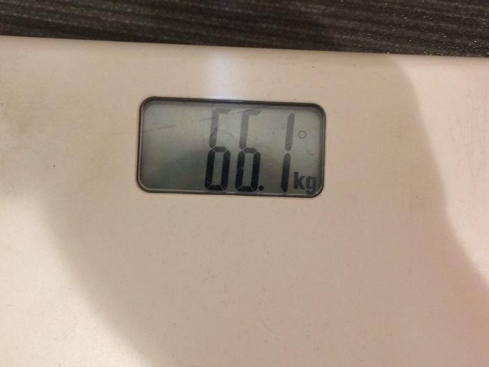 アフターの体重