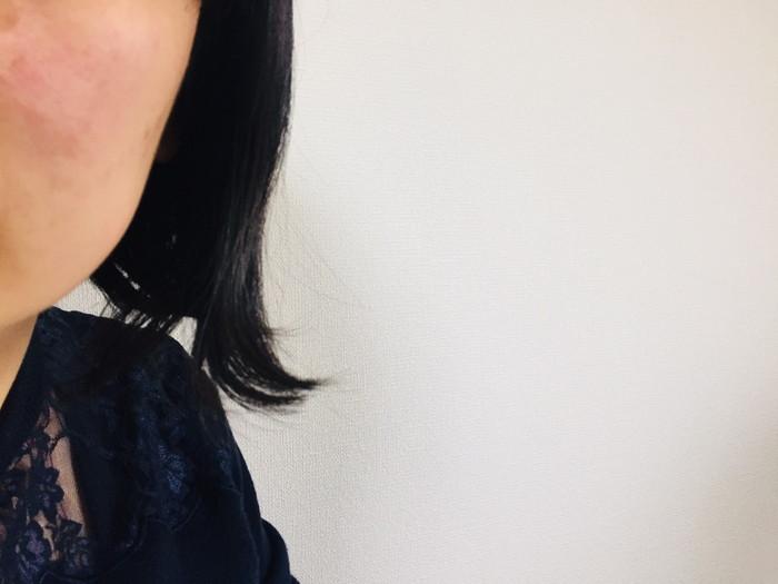 ホリスティックキュア ストレートアイロンを使う前の髪の毛の状態