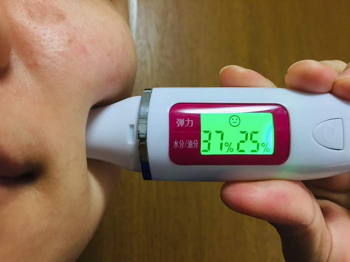 RFボーテの効果 使う前の肌の数値をチェック