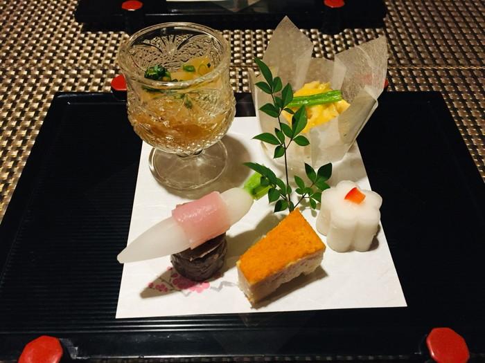 箱根湯宿 然-ZEN-の夕食の前菜