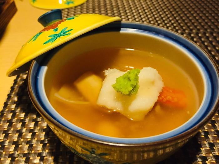 箱根湯宿 然-ZEN-の夕食の蒸し物(かぶら蒸し)