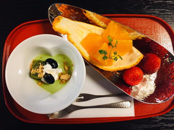 塩原温泉の旅館「湯の花荘」の夕食-水菓子