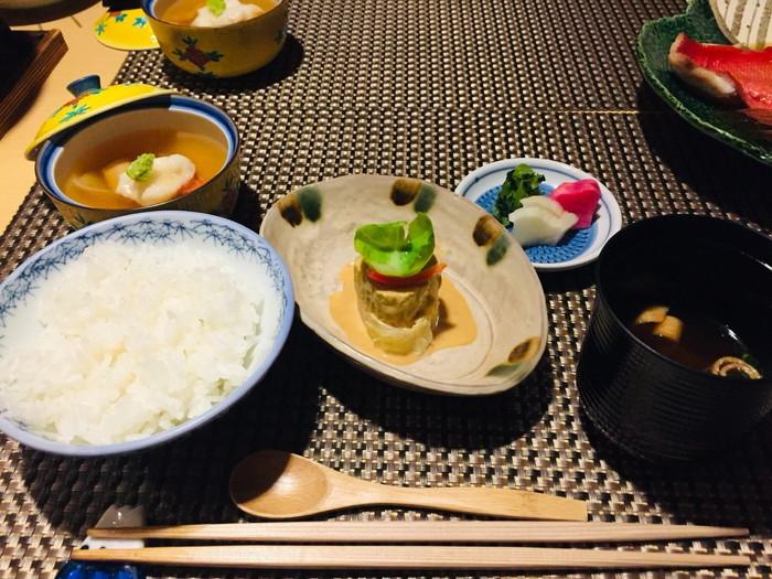 箱根湯宿 然-ZEN-の夕食の食事(ごはんセット)