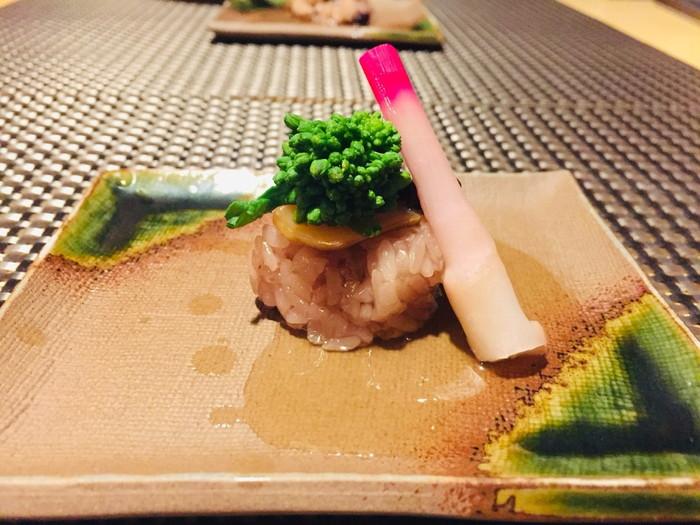 箱根湯宿 然-ZEN-の夕食の御凌ぎのふぐの燻製