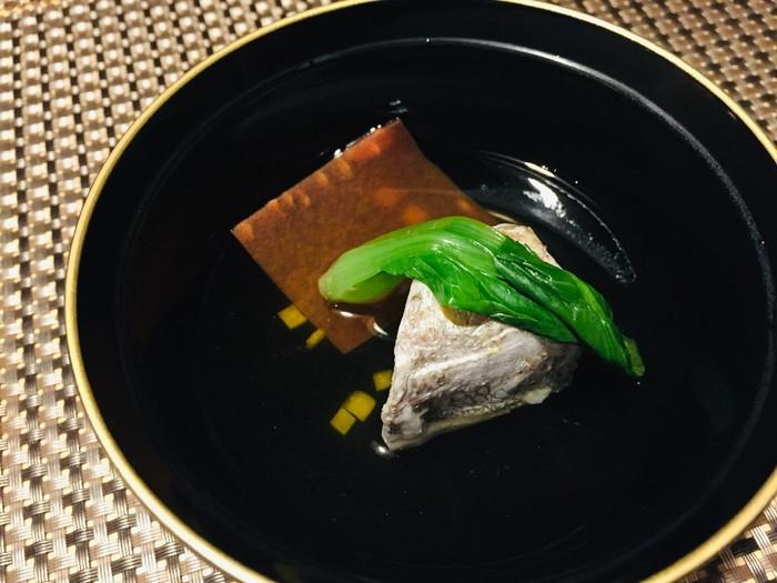 箱根湯宿 然-ZEN-の夕食の椀物1