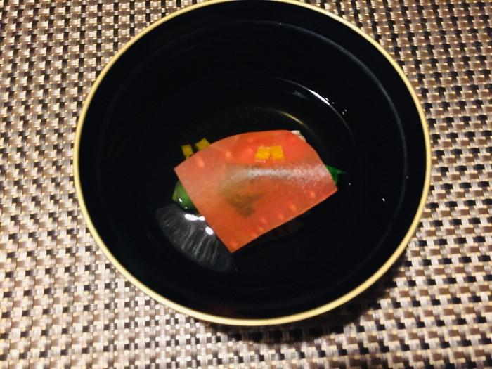 箱根湯宿 然-ZEN-の夕食の椀物