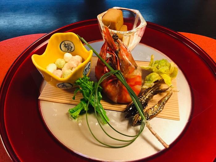 塩原温泉の旅館「湯の花荘」の夕食-前菜