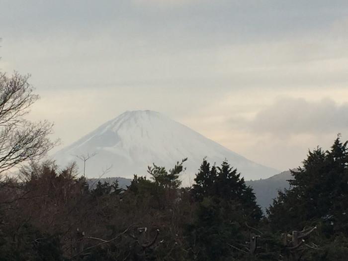 箱根湯宿 然-ZEN-の客室から見える富士山
