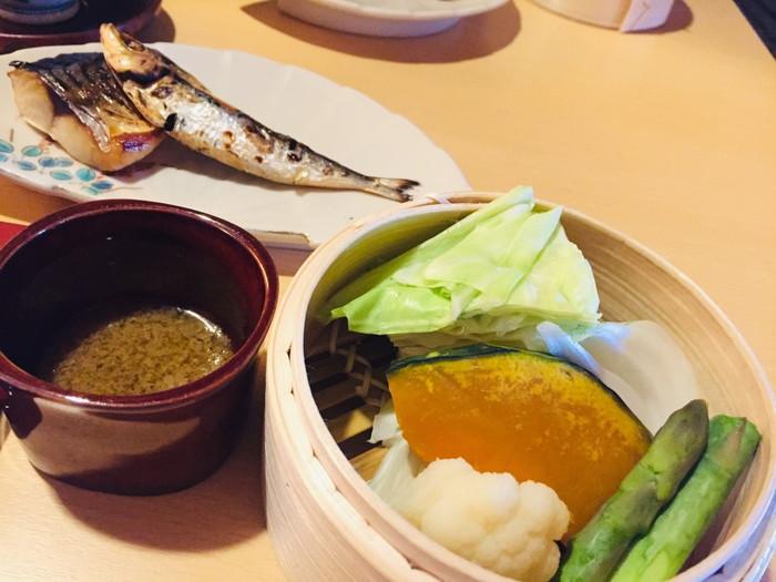 箱根湯宿 然-ZEN-の朝食のバーニャカウダ