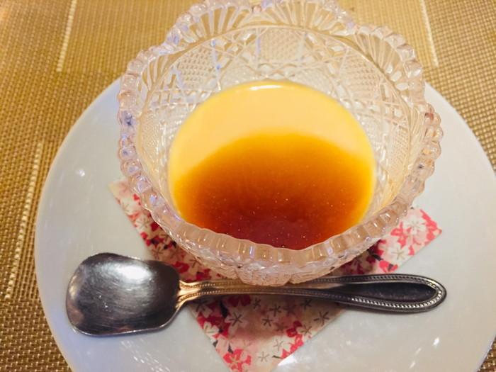 箱根湯宿 然-ZEN-の朝食のプリン