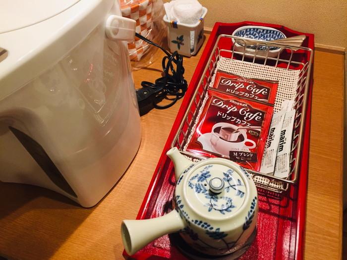 塩原温泉の旅館「湯の花荘」のコーヒー