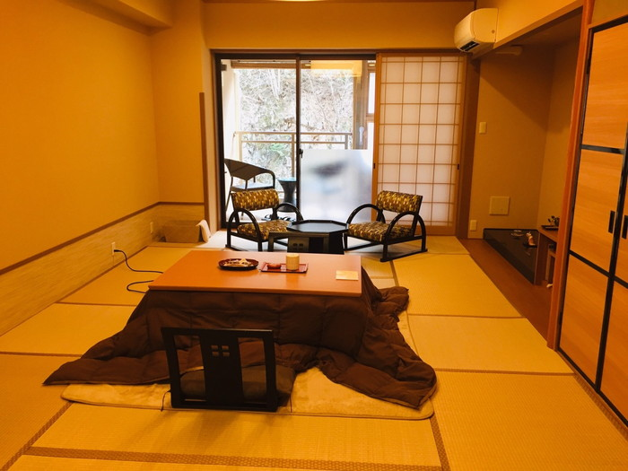 塩原温泉の旅館「湯の花荘」の部屋