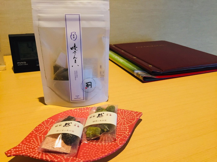 箱根湯宿 然-ZEN-のお茶とお菓子